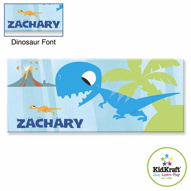 "Kidkraft Blue Dinosaur 10""x24"" Canvas Wall Art"