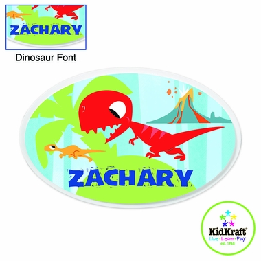 Kidkraft Blue Dinosaur Personalized Wall Plaque