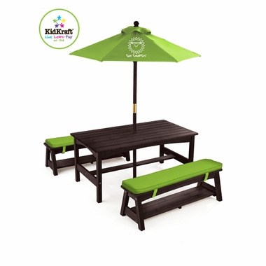 Phenomenal Kidkraft Outdoor Kona Table And Benches Bralicious Painted Fabric Chair Ideas Braliciousco