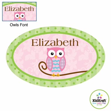 Kidkraft Owls Girl Wall Plaque