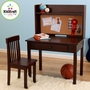 KidKraft Pinboard Desk and Chair Set in Espresso
