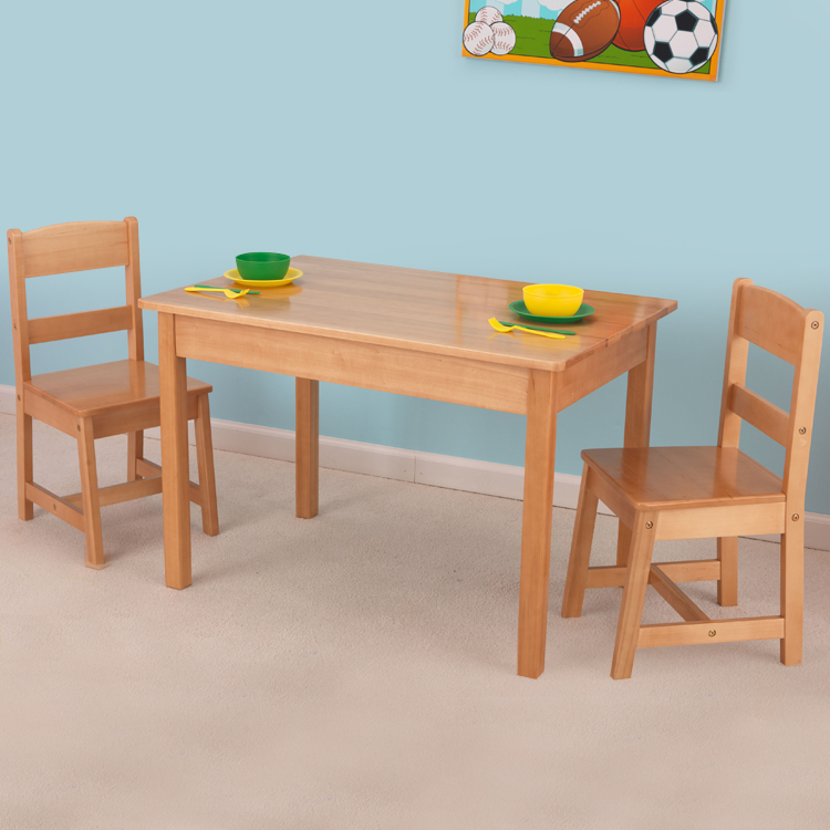 Magnificent Kidkraft Rectangle Table Chair Set In Natural Andrewgaddart Wooden Chair Designs For Living Room Andrewgaddartcom