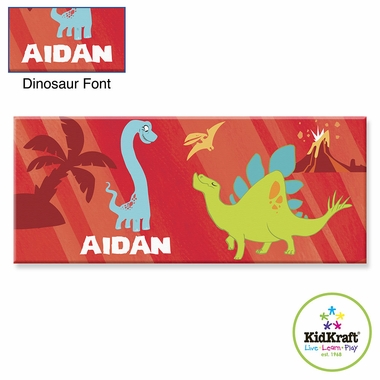 "Kidkraft Red Dinosaur 10""x24"" Canvas Wall Art"
