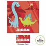 "Kidkraft Red Dinosaur 15""x15"" Canvas Wall Art"