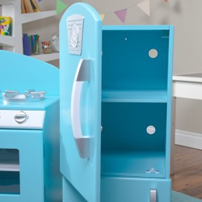 Kidkraft Retro Kitchen kidkraft kitchen & refrigerator in blue free shipping - $175.00