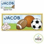 "Kidkraft Sports Canvas 10""x24"" Wall Art"