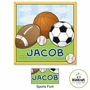 "Kidkraft Sports Canvas 15""x15"" Wall Art"