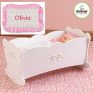 KidKraft Tiffany Bow Cradle in White