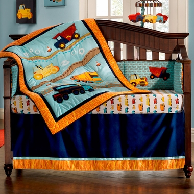 KidsLine Zutano Construction 4 Piece Crib Set