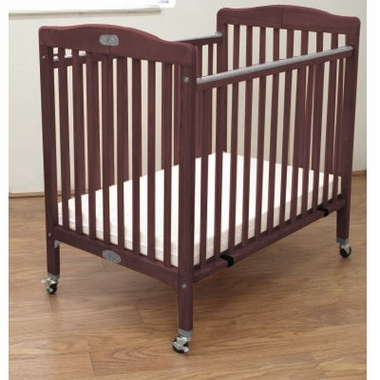 Attrayant LA Baby Wood Folding Portable Crib In Cherry   Click To Enlarge