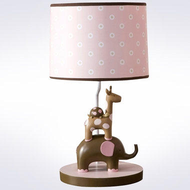 Lambs & Ivy Emma Pink Animals Lamp with Shade FREE SHIPPING