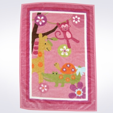 Lambs & Ivy Lollipop Jungle Warm and Cozy Blanket
