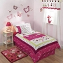Lambs & Ivy Raspberry Swirl 2 Piece Twin Bedding Set