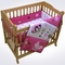 Lambs & Ivy Raspberry Swirl 3 Piece Mini Crib Bedding Set