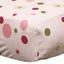 Lambs & Ivy Raspberry Swirl Fitted Crib Sheet