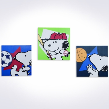Lambs & Ivy Team Snoopy Wall Decor FREE SHIPPING - $42.95