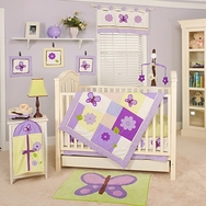 Lavender Butterfly Bedding Collection by Pam Grace Creations