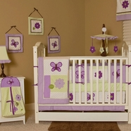 Lavender Butterfly Crib Bedding Collection