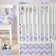 Lavender Zig Zag Bedding Collection by New Arrivals