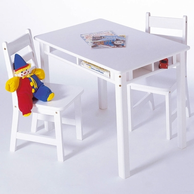 Lipper Child S Rectangular Table With Shelves Amp 2 Chairs