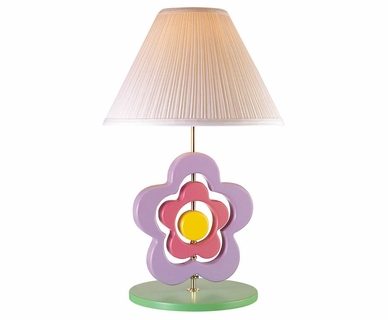 Lite Source Pastel Hippie Spinning Flower Lamp