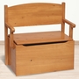 Little Colorado Bench Toy Box in Honey Oak