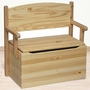Little Colorado Bench Toy Box in Natural Lacquer