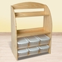 Little Colorado Bookcase / Organizer in Natural Lacquer