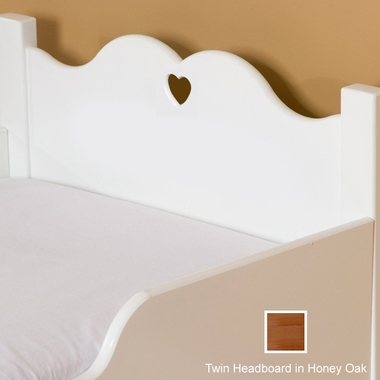 Little Colorado Scalloped Twin Headboard - Honey Oak