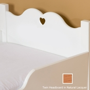 Little Colorado Scalloped Twin Headboard - Natural Lacquer