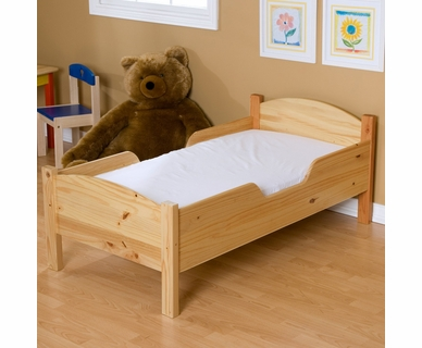 Little Colorado Traditional Toddler Bed - Natural Lacquer