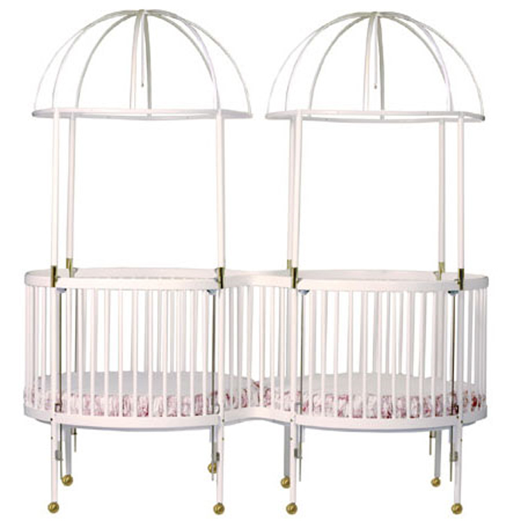 Little Miss Liberty Duetta Round Crib Mate Twin Round Crib - FREE SHIPPING  sc 1 st  Simply Baby Furniture & Little Miss Liberty Duetta Round Crib Mate Twin Round Crib - FREE ...