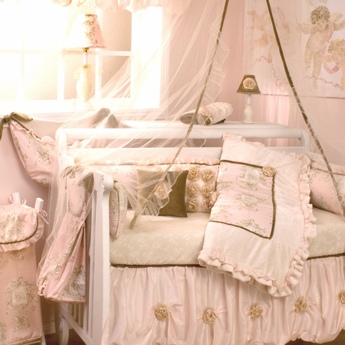 Lollipops and Roses Crib Bedding Collection