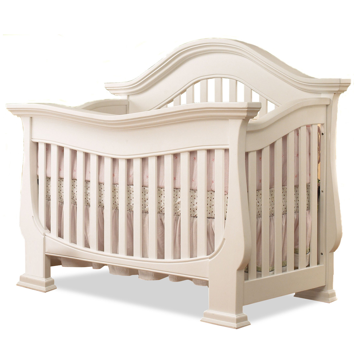 Lusso Century 4 In 1 Crib With Mini Rail In French White Free Shipping