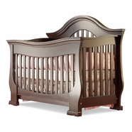 Lusso Century 4 in 1 Crib with Mini Rail in Espresso