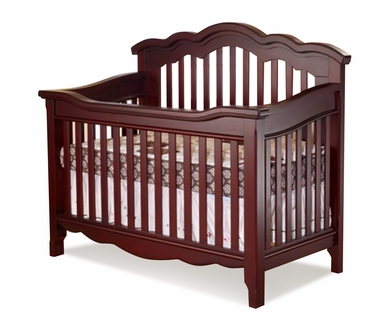 Lusso Ravenna Crib with Toddler Rail in Merlot