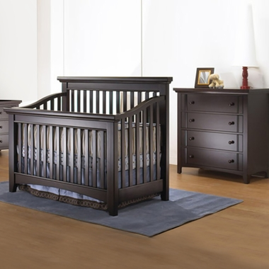 Lusso Seville 2 Piece Nursery Set 4 In 1 Crib With Mini