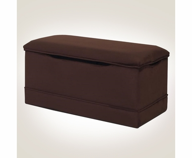 Magical Harmony Kids Deluxe Toy Box in Chocolate Microfiber