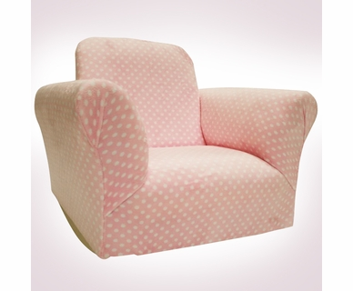 Magical Harmony Kids Standard Rocker in Light Pink Dot