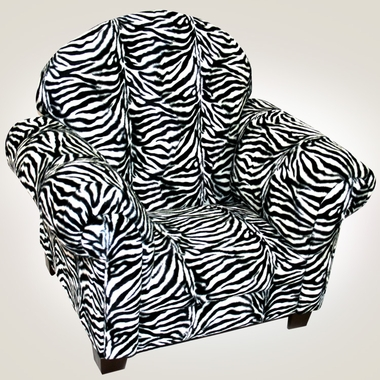 Groovy Magical Harmony Kids Sweet Child Chair In Zebra Plush Pabps2019 Chair Design Images Pabps2019Com