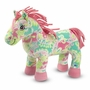 Melissa & Doug Ashley Horse Plush Stuffed Animal in Pastel Paisley