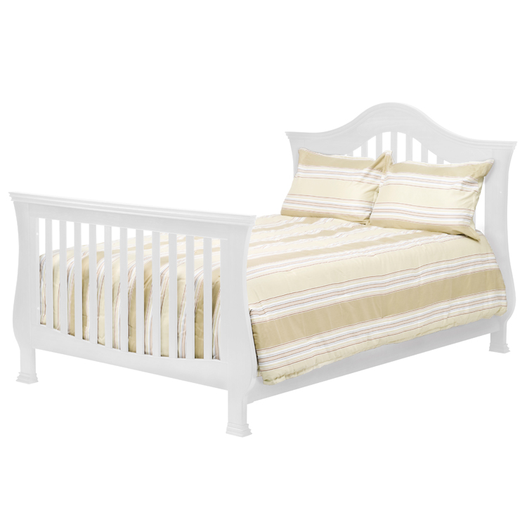 Million Dollar Baby 2 Piece Nursery Set   Ashbury 4 In 1 Sleigh Convertible  Crib And Combo Dresser In White FREE SHIPPING