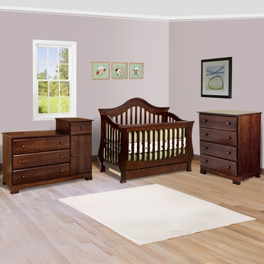 Convertible Crib With Toddler Rail 3 Drawer Changer And