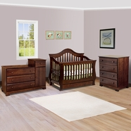 Million Dollar Baby 3 Piece Nursery Set - Ashbury Convertible Crib,  Kalani Combo Changer and 4 Drawer Dresser in Espresso