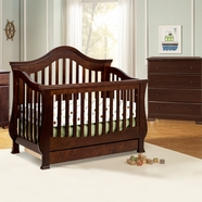 Million Dollar Baby Classic 3 Piece Nursery Set - Ashbury Convertible Crib, Kalani Combo Changer and 4 Drawer Dresser in Espresso
