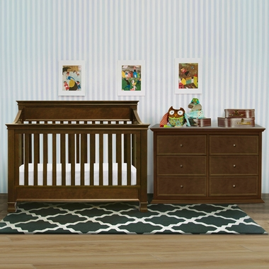 Set Shaker 4 In 1 Convertible Crib And 6 Drawer Dresser In