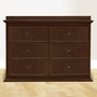 Million Dollar Baby Foothill 6 Drawer Dresser in Espresso