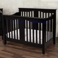 Million Dollar Baby Annabelle 4-in-1 Convertible Crib in Ebony