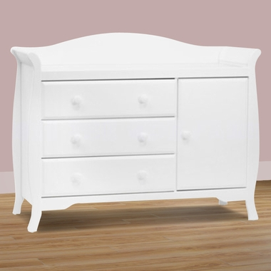 Million Dollar Baby Classic Ashbury Combo Dresser In White