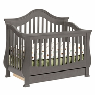 Million Dollar Baby Classic Ashbury Convertible Crib in Manor Grey